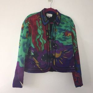 Silkscapes Handpaonted Silk Jacket